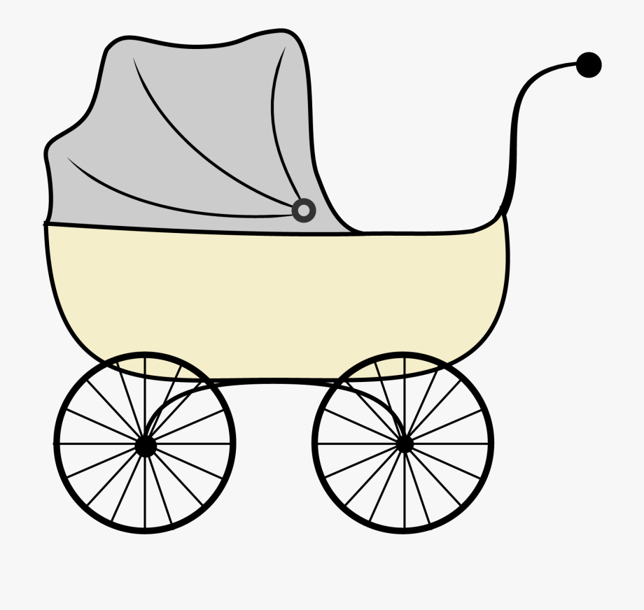 Cortoons Baby Strollers Clip Art.