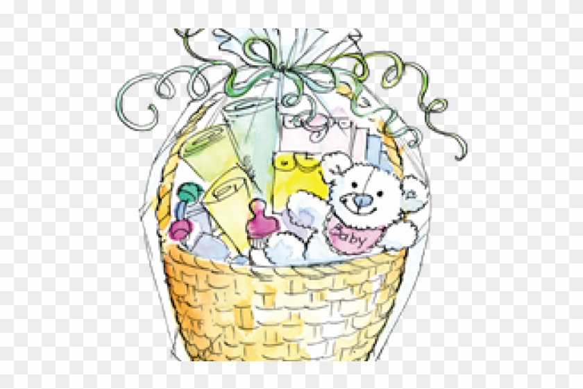 Basket Clipart Baby Shower, HD Png Download.