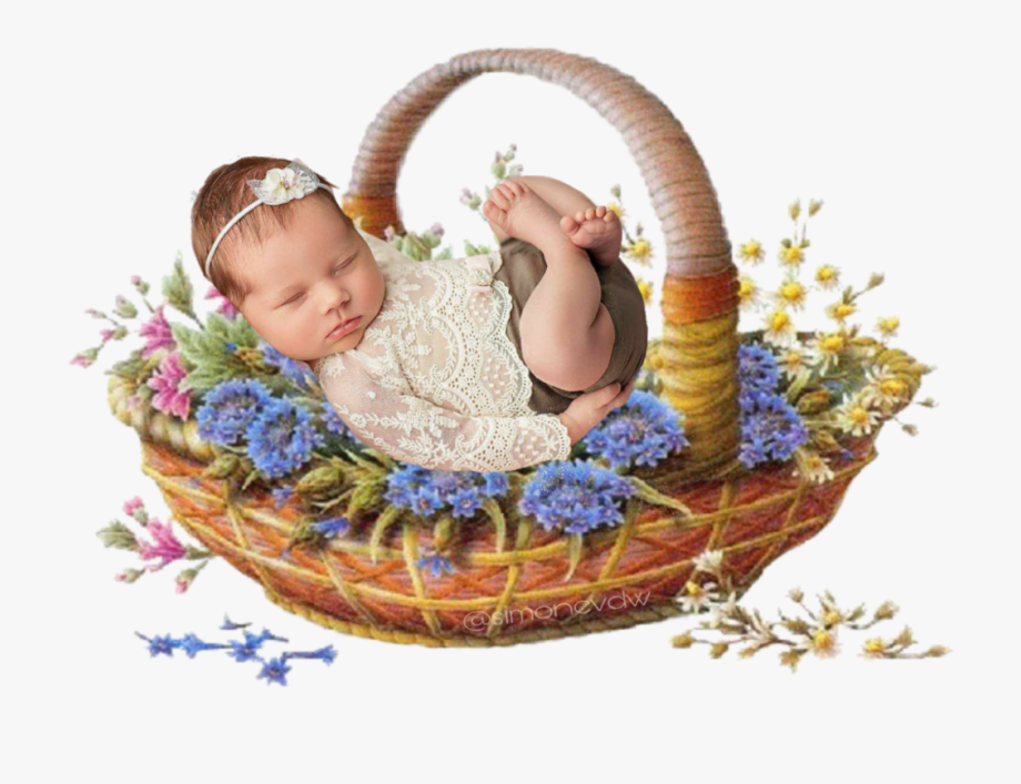 baby #basket #flowers.
