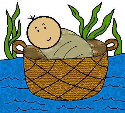 Church House Collection Blog: Free Baby Moses In The Basket Clip Art.