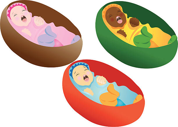 Best Baby Basket Illustrations, Royalty.