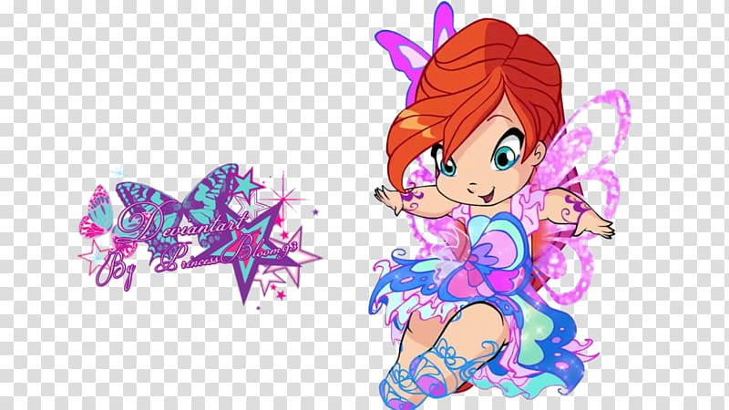 Bloom Tecna Aisha Baby Winx, others transparent background.