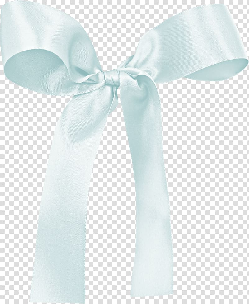 Ribbon Baby blue, Ribbon transparent background PNG clipart.