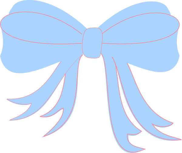 Baby Blue Ribbon Clip Art at Clker.com.