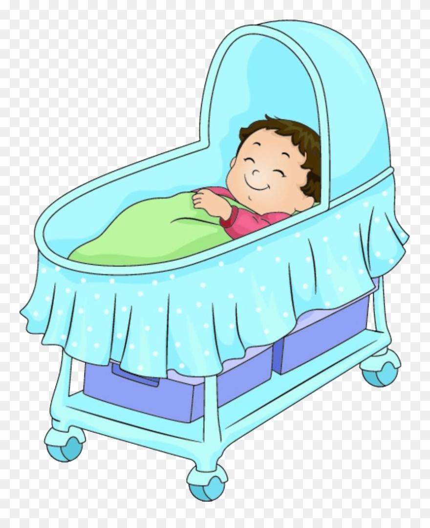 Bed Cartoon Illustration A In Pram.