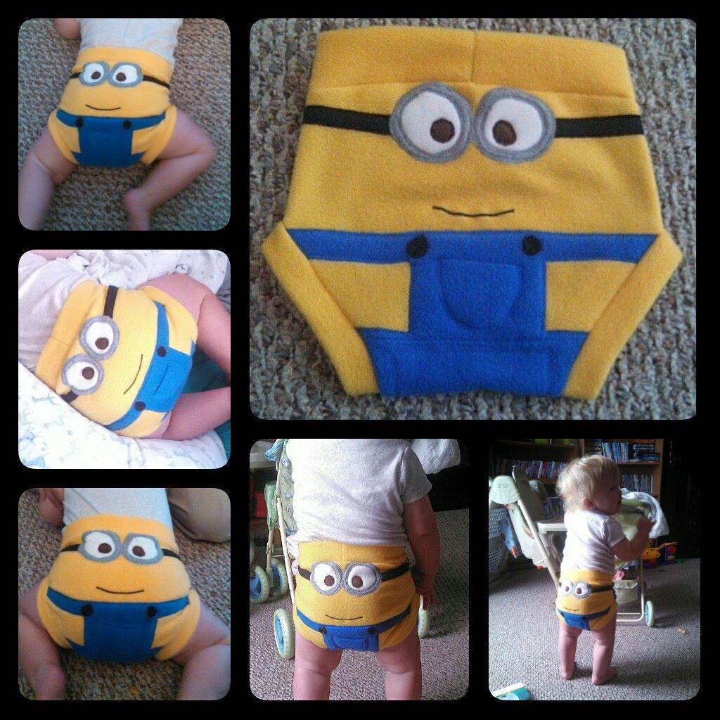 Minion diaper cover.