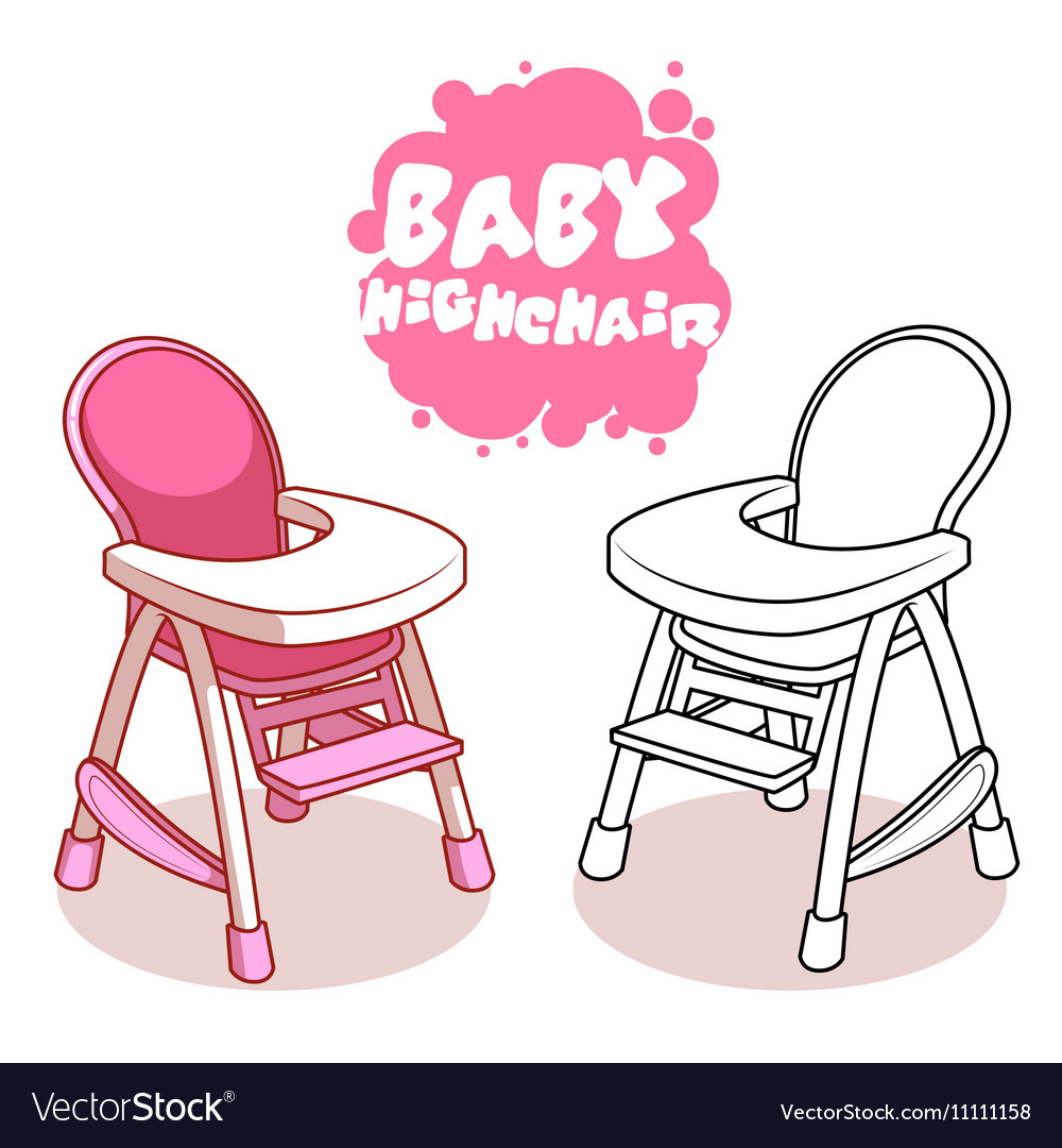 Baby Highchair isolated on white background.