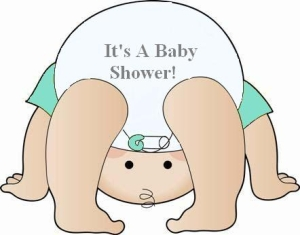 Its A Diaper Shower clip art.