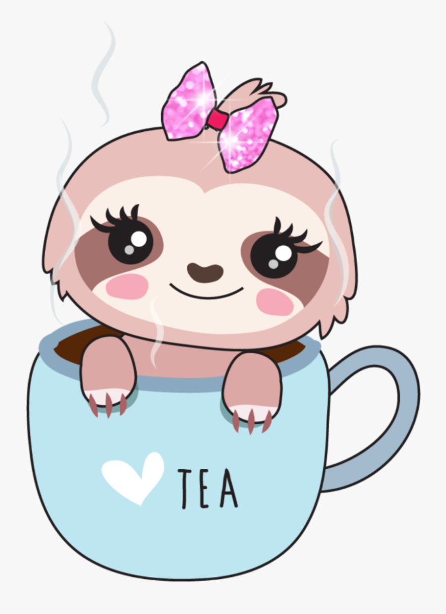 ftestickers #sloth #babysloth #teacup #cute.