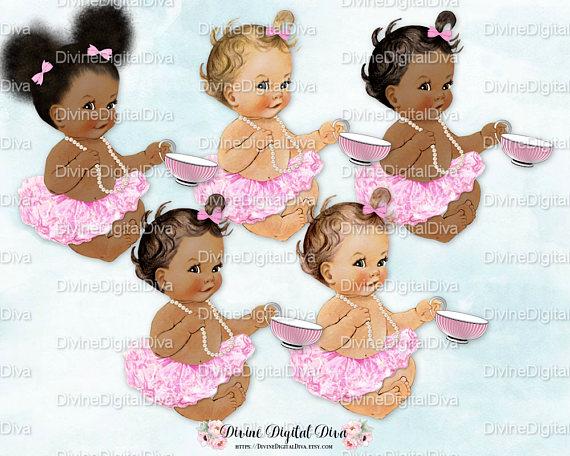 Ballerina w/ Teacup Pink Tutu Pearl Necklace.