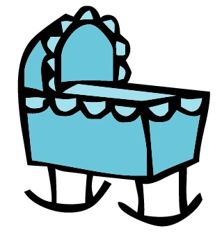 Baby cradle clipart » Clipart Station.