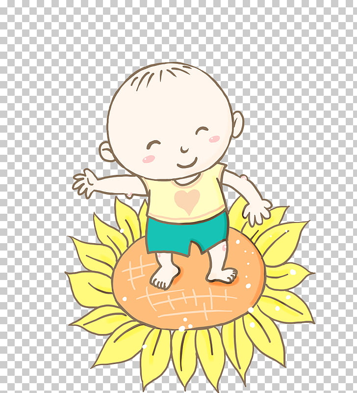 Baby Laugh Infant Android, Sunflower baby laughs PNG clipart.
