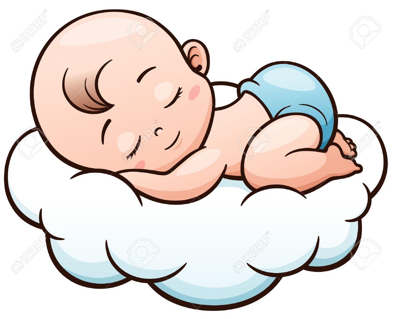 Baby Boy Sleeping Clipart.