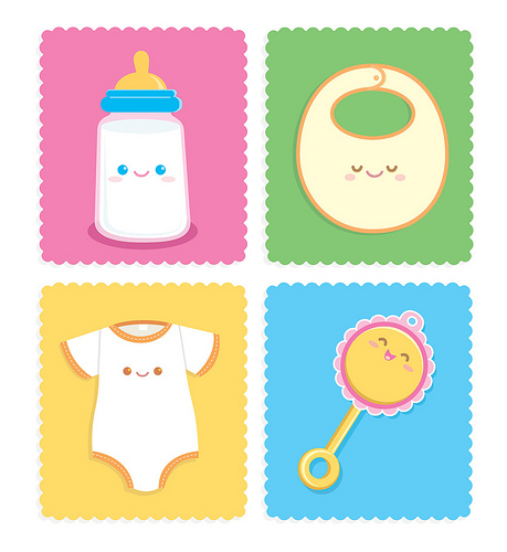 Baby Items Clipart Images.