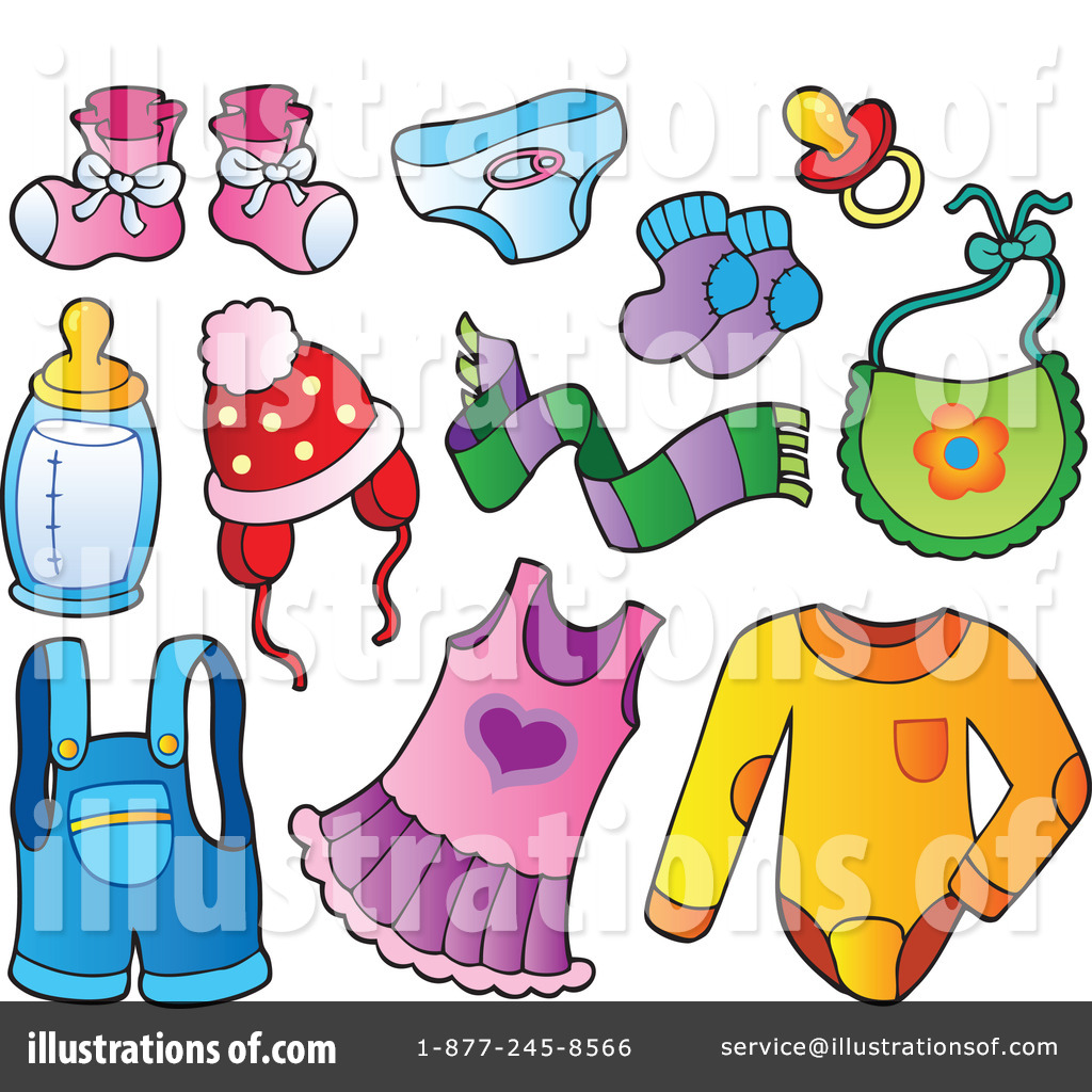 Baby Items Clipart #1081659.