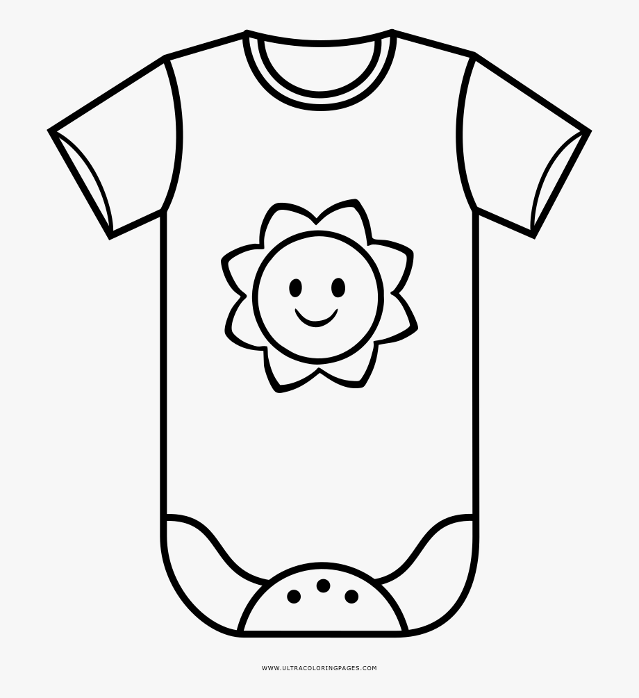 Baby Clothes Coloring Page.