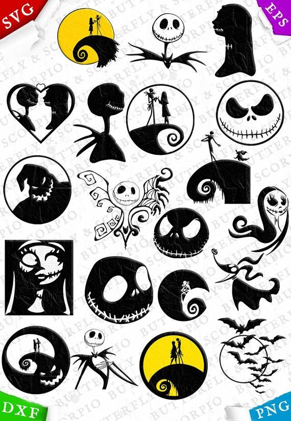 The nightmare before Christmas svg, Jack files for.