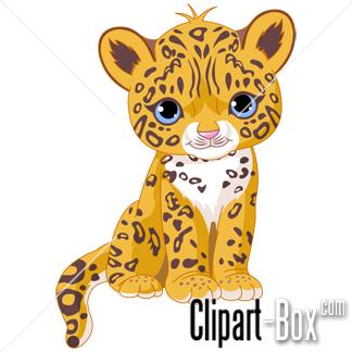 Cute baby jaguar clip art. Animal clip art from the clipart.