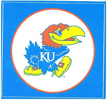 Amazon.com: 4 inch KU Big Jay Decal University of Kansas.