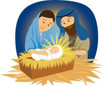 1174 Baby Jesus free clipart.