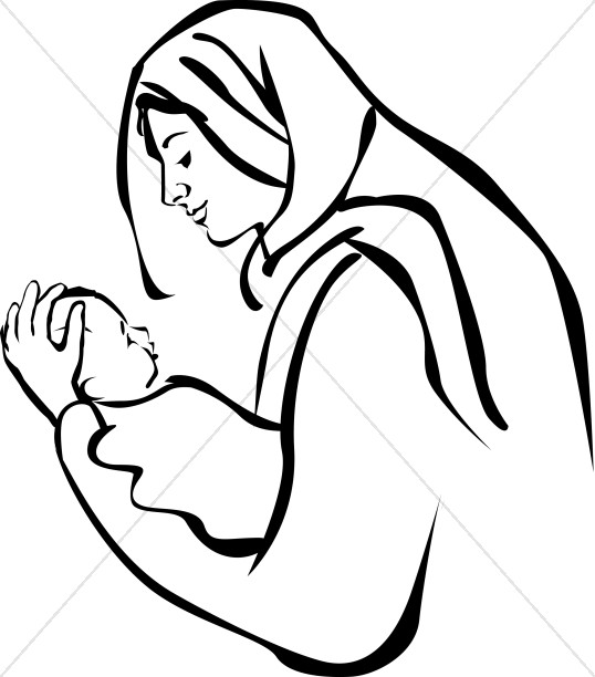 mary and jesus clipart #9