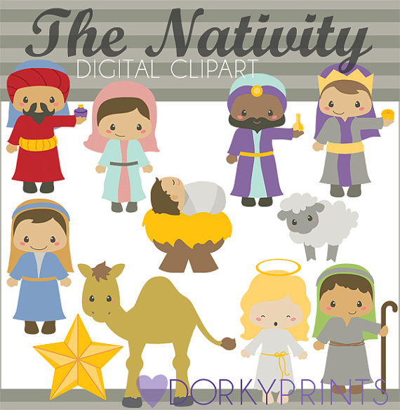 Christmas Clipart Nativity Clipart.