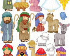 Nativity clipart, Nativity clip art, Christmas clipart, Jesus.