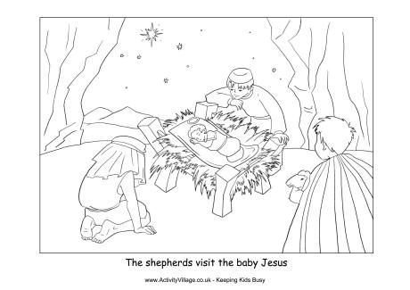 Nativity Colouring Pages.