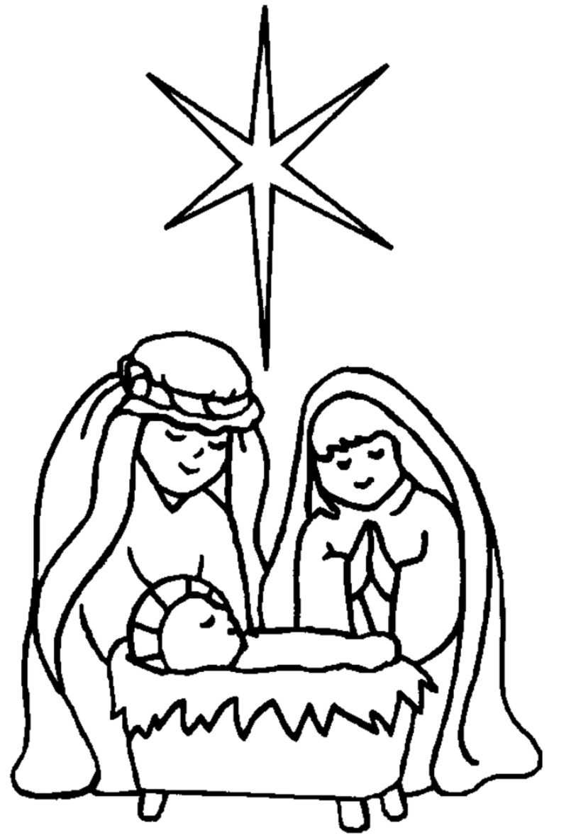 Nativity black and white jesus manger clipart black and white.