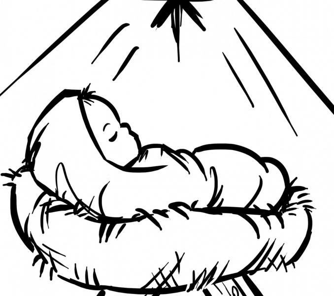 Baby Jesus Coloring Pages.