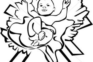 Baby jesus black and white clipart » Clipart Portal.