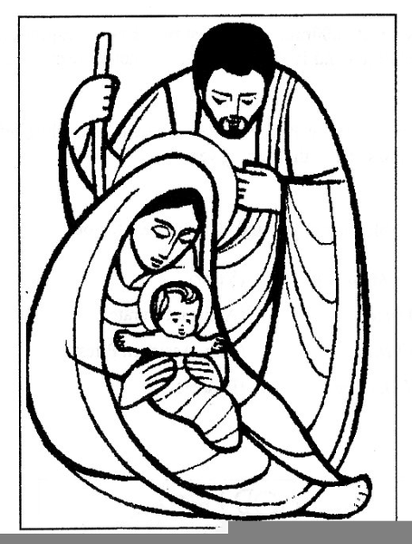 Baby Jesus Clipart Black White.