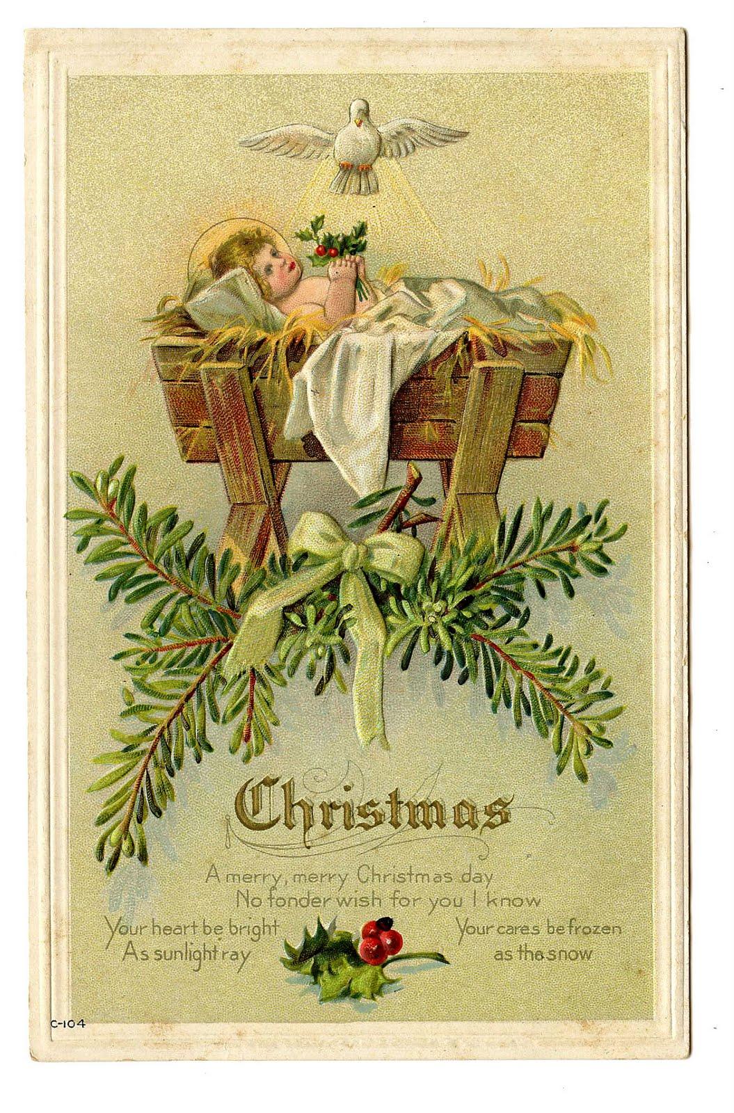 Vintage Christmas Clip Art.