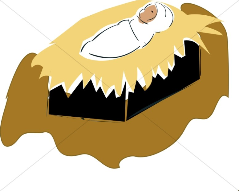 Swaddled Baby Jesus Clipart.