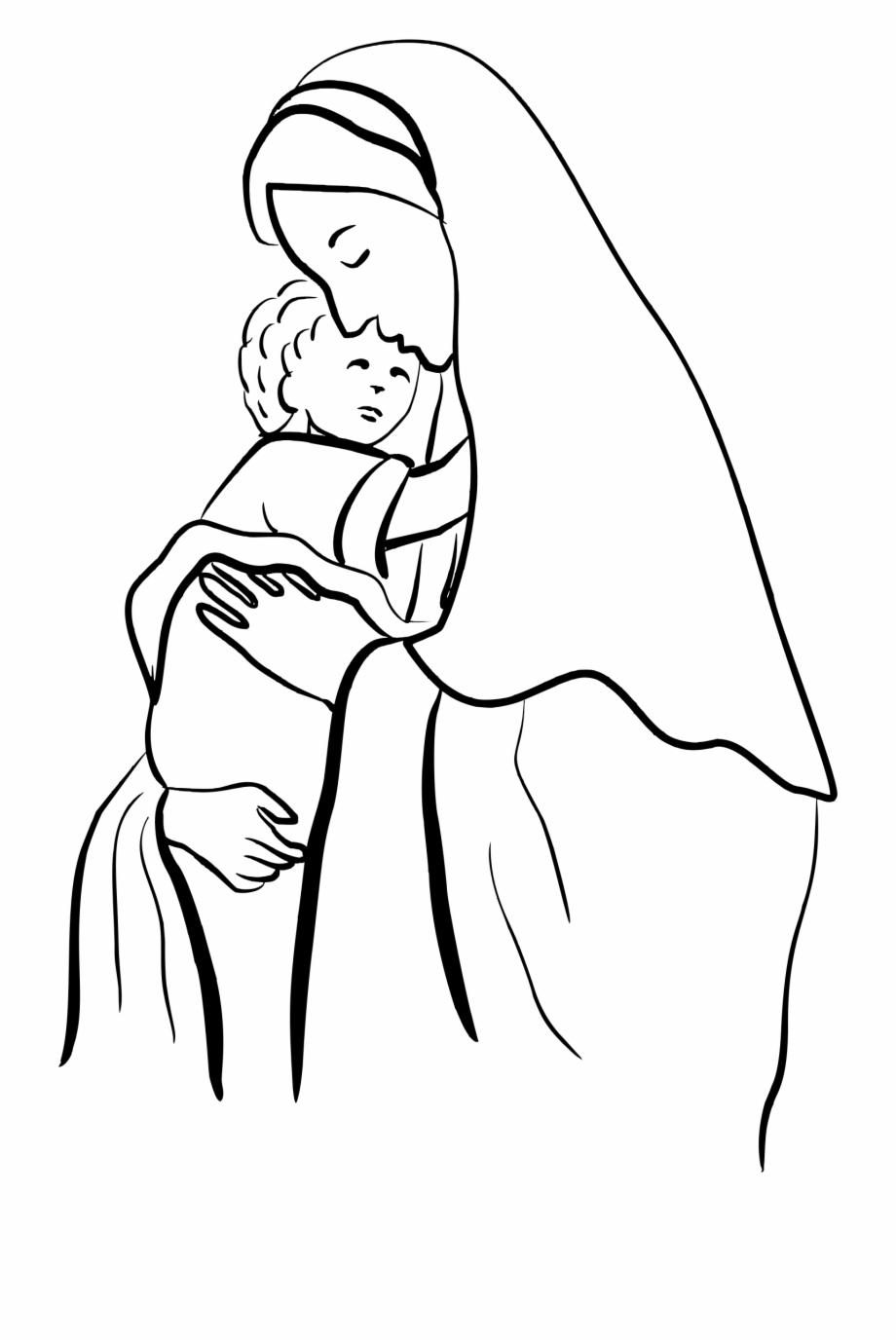 Mary Baby Jesus Clipart.