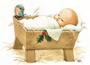 Happy Birthday Baby Jesus Clipart.