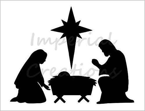 Amazon.com: NATIVITY SCENE Manger Baby Jesus Star Christmas.
