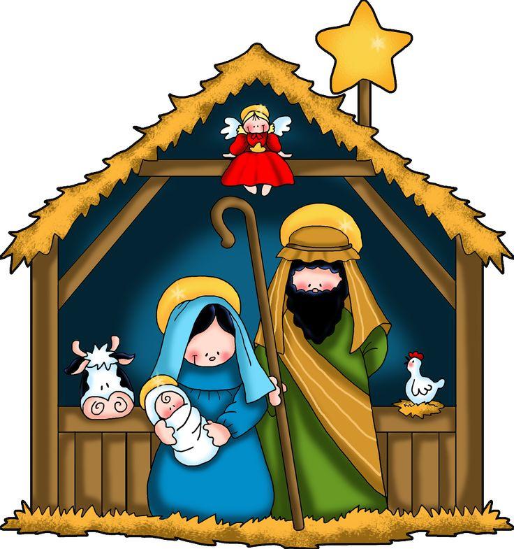 3452 Nativity free clipart.