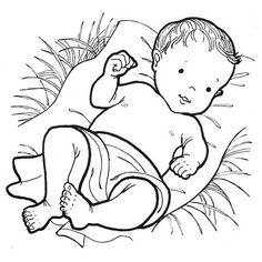 Baby jesus clipart black white clipartfest.