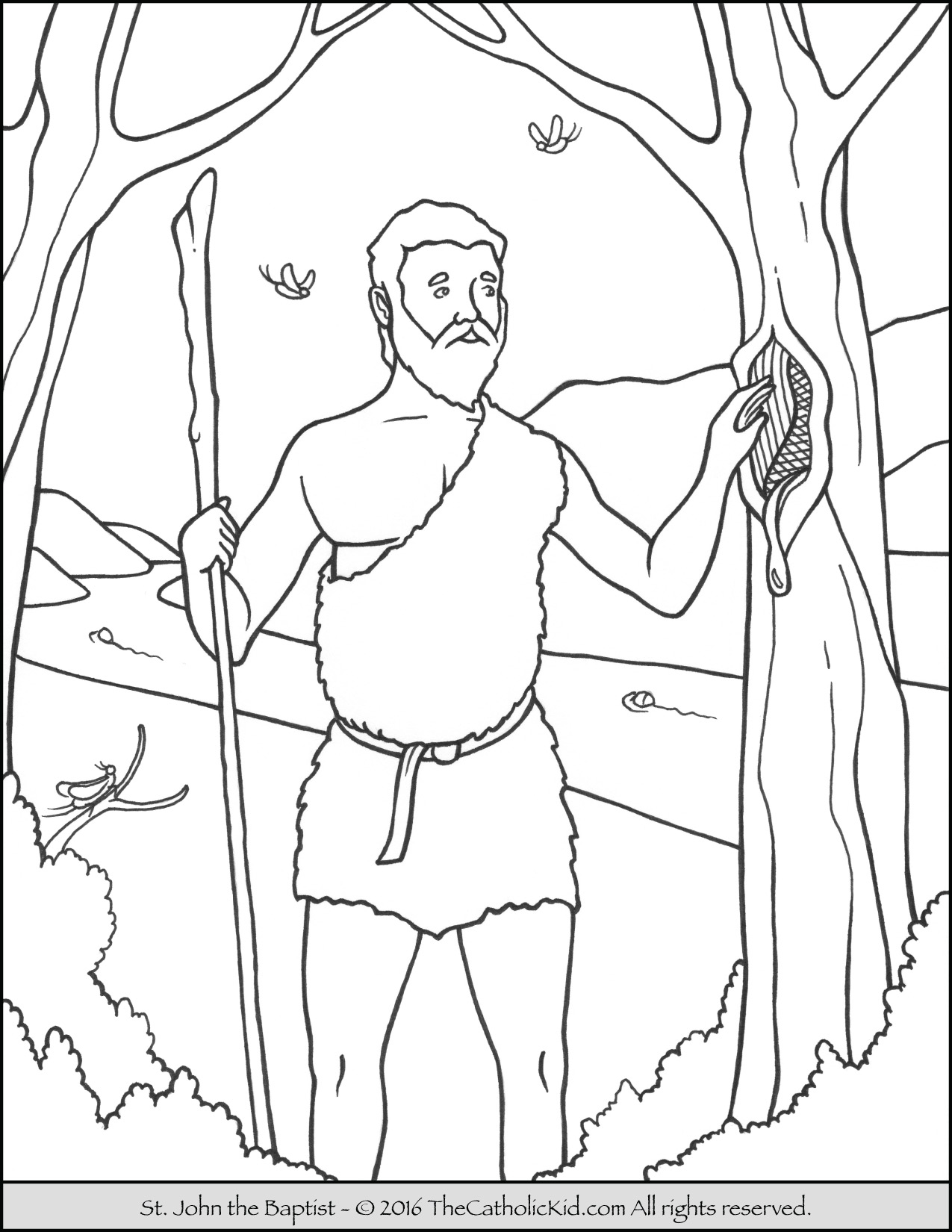 Coloring Pages For John The Baptist.