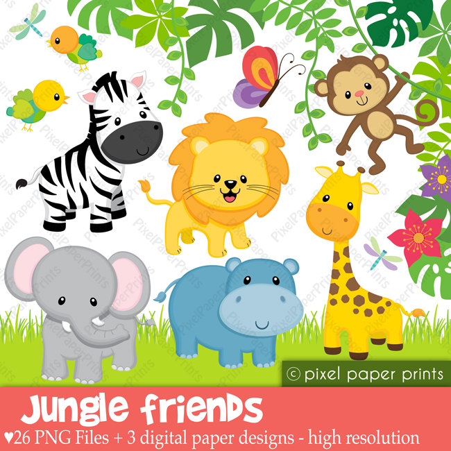 1462 Jungle Animals free clipart.