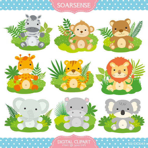 Baby jungle animals clipart » Clipart Station.