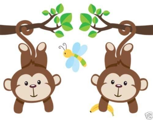 Baby Jungle Border Clipart.