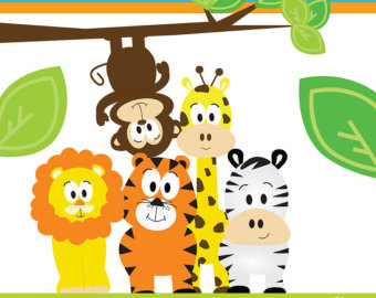Baby shower jungle theme clip art danaalma top.