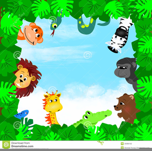 Jungle Theme Baby Shower Clipart.