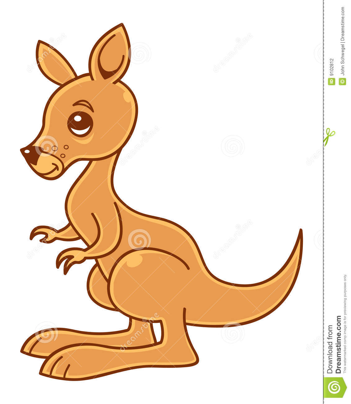 Baby Kangaroo Clipart.