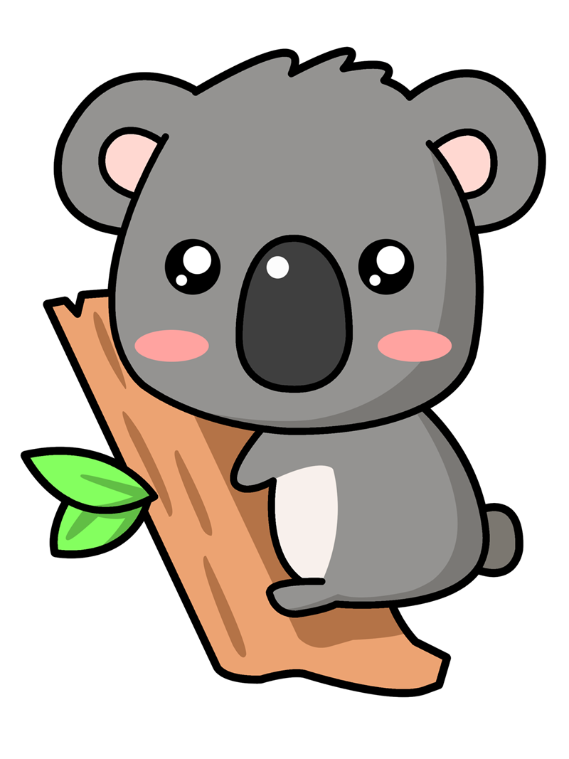 Baby koala clipart cute.