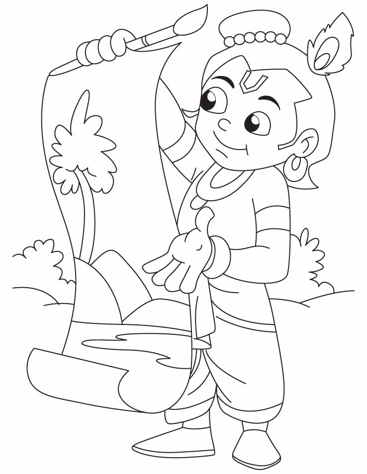 Free Krishna Coloring Page, Download Free Clip Art, Free.
