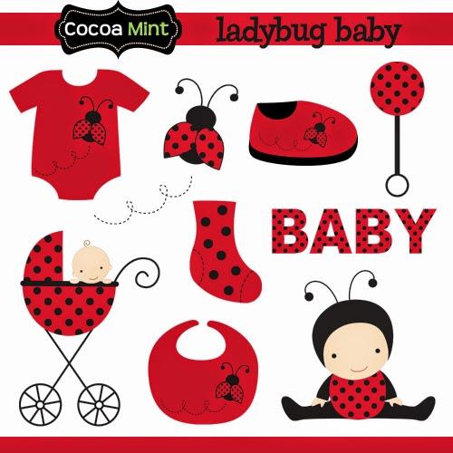 Baby Ladybug Clip Art..