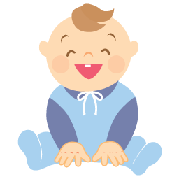 Free Icons: Baby laughing Icon.